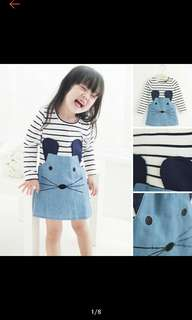Girls dress mouse 5 years