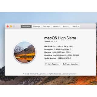 MacBook Pro i5 2.3 GHz 8GB RAM