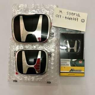 Honda City GM6 2014-2017 Black Emblem for stereng,front & rear