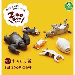 🚚 T-ARTS扭蛋 ZOO 休眠動物園