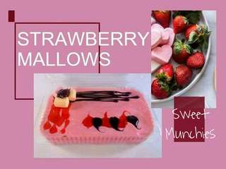 Starwberry Mallows Graham Cake