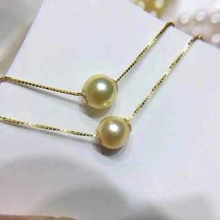 天然日本珍珠7-8mm正圓akoya頸鏈