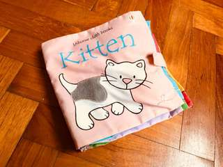 Baby Cloth Book - Kitten