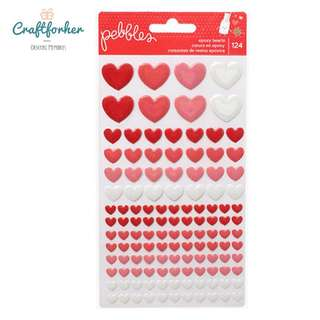 🚚 ★Stickers★ Pebbles Epoxy Hearts Stickers