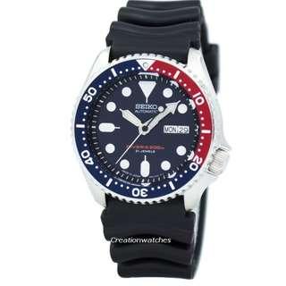 🚚 Seiko Automatic Diver's 200m Made in Japan SKX009 SKX009J1 SKX009J Men's Watch