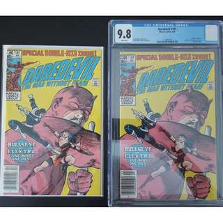 """Daredevil #181, #181 CGC 9.8 (1st Series 1982)- LEGENDARY STORY by Frank Miller! THE DEATH OF ELEKTRA!! Mile-stone KEY Issue, RED-HOT Spider!!! Set of 2 Books, """"One To Read, One To Keep"""" Series."""