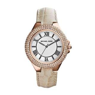 FREE SHIPPING Michael Kors Camille MK-2330 Cream/White Analog Quartz Watch