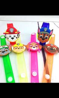 Instock paw patrol handwrist with lights brand new ideal for paw patrol theme birthday goodies bag gift .. Bulk purchase pls pm me