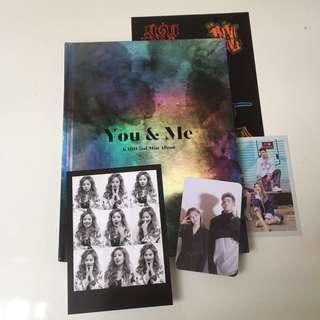 FULLSET KARD 2nd Mini Album You & Me: Somin & BM photocard