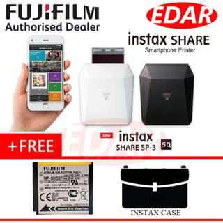 FUJIFILM SQ INSTAX SHARE SP-3 SMART PHONE PRINTER (SQUARE FORMAT) ««ORIGINAL & OFFICIAL FUJIFILM»»