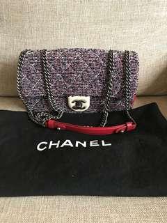 Chanel 限量款編織毛呢包 tweed bag