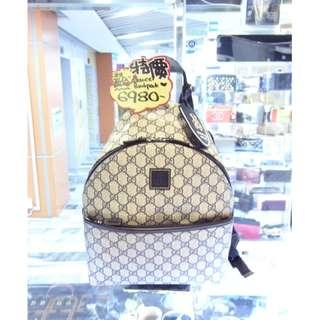 Gucci GG Logo Monogram Blue Pvc Canvas Baby Shoulder Backpack Handbag Hand Bag 古馳 藍色 帆布 防水物料 小童 童裝 背包 背囊 手袋 袋 肩袋