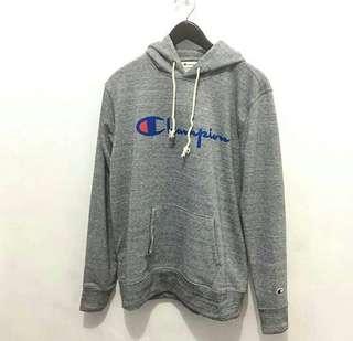 Champion Script Hoodie Sweatshirt Fiber
