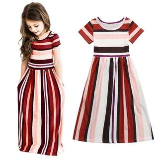 Stripes Maxi Dress Girl
