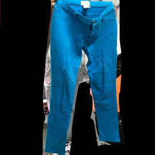 Blue Stretch Pants