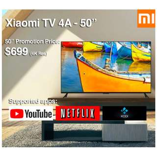 """TV Xiaomi Android TV 4A 50"""" Build in Mitv Box (Ready Stock)"""