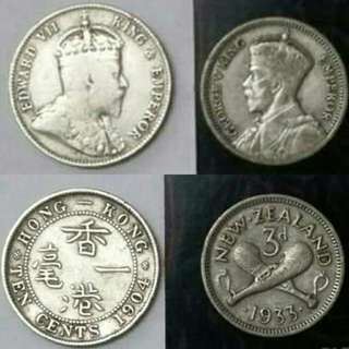 Silver Coin. HK & New Zealand