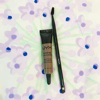 nyx eyebrow gel + free brush