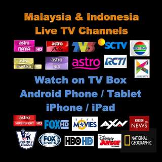 MALAYSIA ASTRO / INDONESIA / US / SPORTS / CHINESE  IPTV CHANNEL & ANDROID TV BOX