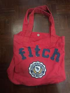 Abercrombie & Fitch Red Tote Bag