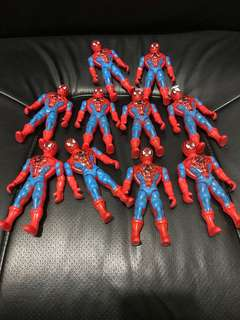 Spiderman Plastic Toy (10 pieces take all at 65)