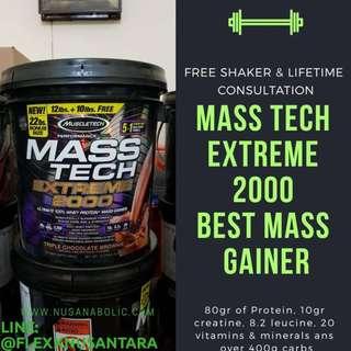 Muscletech Mass Tech Extreme Gainer 2000 22lbs