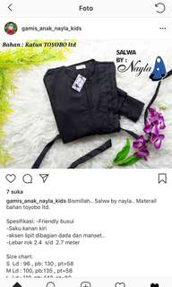 Gamis toyobo brand Nayla ori #maudecay