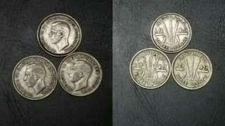 Silver Coin. 3 for RM25
