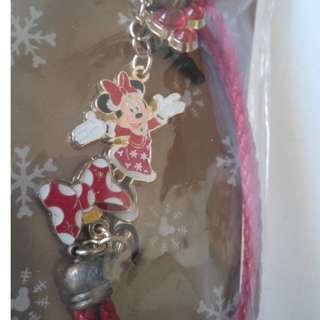 米妮老鼠 米妮手機吊飾 迪士尼樂園紀念品 全新品僅此1件  (不議價/面交/換物/退換/平信