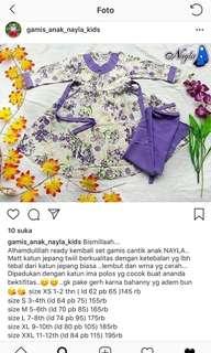 Gamis jilbab set anak original Nayla ukuran XL katun jepang #maudecay