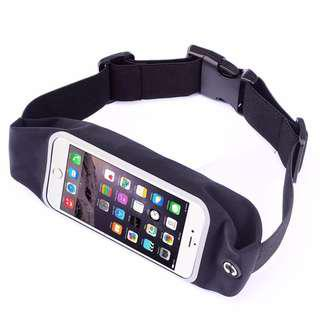 🚚 Sports Waist Pouch ◇ with Transparent Touch Screen Window Lightweight Running Pack with Earphone Outlet - Indoor Outdoor Waterproof Sweatproof Reflective Belt Universal Zipper Bag Fanny Belt for iPhone X 10 8 7 6 Plus Samsung Galaxy Oppo Xiaomi And More