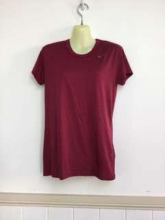 Nike M Maroon Dry Fit Sport Top