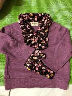 🚚 紫色花襯衫