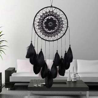 PREORDER Dreamcatcher black mandala bohemian homedecor white