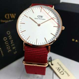 Original DW Roselyn White Classic Rosegold 36/40mm New