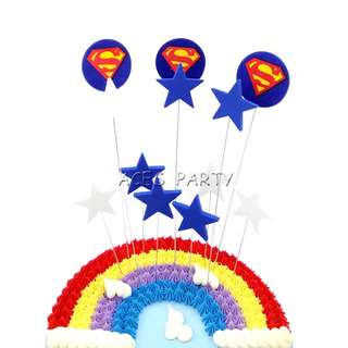 Superheroes justice league Superman party supplies - cake toppers / DIY Cake Deco / party deco