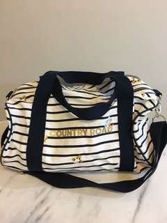 Country Road Floral Striped Overnighter Bag