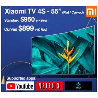 "TV Xiaomi Android TV 4S 55"" Build in Mitv Box (Ready Stock)"