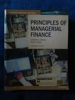 Principle of Managerial Finance 13th edition