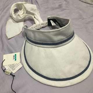 ELLE 白色遮陽帽