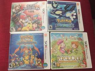 Second hand 3DS games