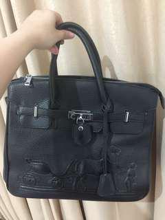 Handbag Hermes Leather Black