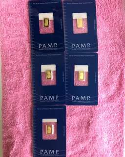 PAMP Pure Gold Bars - weight (2.5 grams) ❤️