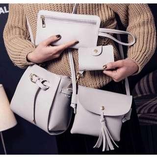 4 in 1 Set PU Bag Shoulder / Handbags / Sling bags / Card Holder
