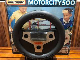 Vintage 90s' Matchbox Motorcity 500 Collectible Set + Classic Steering Wheel Collector Case 🚗