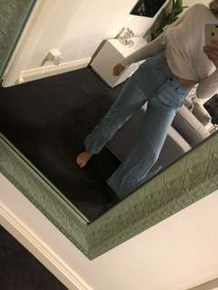 Country road denim flared pants