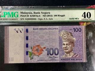 ND(2012) 100Ringgit Solid 6 !!!