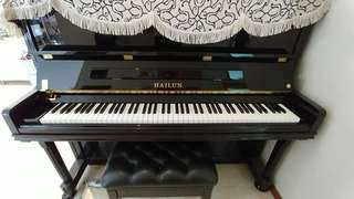 3 year old Hailun upright piano (HL125)