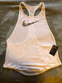 Nike gym singlet ~ white