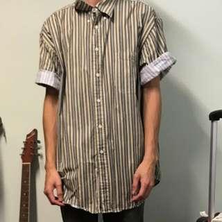 古著條紋襯衫